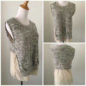 3.1 PHILLIP LIM Knit Sweater & Chiffon Mix Shirt